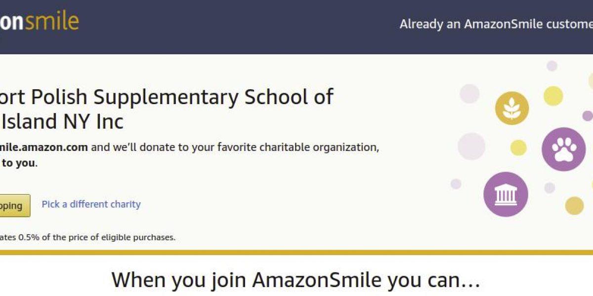 Robiąc zakupy na AmazonSmile, wspieraj naszą szkołę