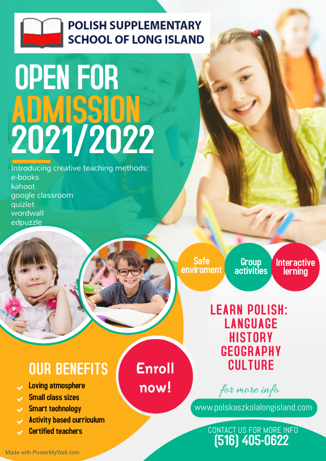 Open Admission for curriculum 2021-2022